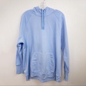 Champion Light Blue Hoodie Sweatshirt Plain 2X
